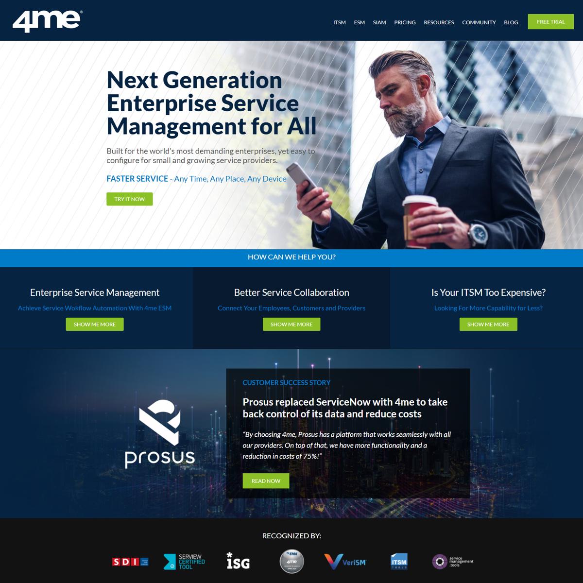 4me Website - Hup Agency