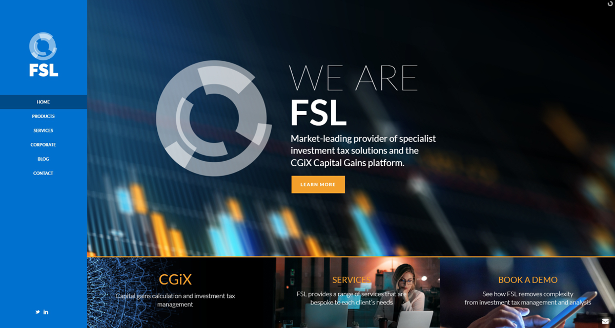 Financial Software Website - Hup Agency